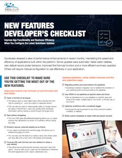 Developers checklist